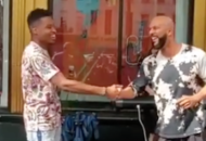 Common Joins A Street Performer In An Off The Top Cypher That's GREAT!